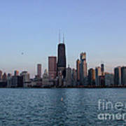 John Hancock Building And Chicago Il Skyline Poster