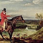John Levett Hunting In The Park At Wychnor Poster