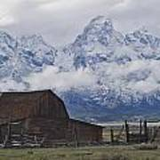 John Moulton Barn Grand Teton National Park Wyoming Poster