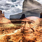 John Wayne Monument Valley Poster by Lester Phipps