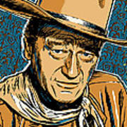 John Wayne Pop Art Poster