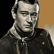 John Wayne Publicity Photo In Costume Stagecoach 1939-2013 Poster