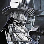 John Wayne Rio Lobo Collage Old Tucson Arizona 1970-2009 Poster