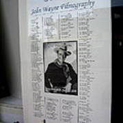 John Wayne's Filmography Bird Cage Theater Tombstone Arizona 2004 Poster