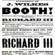 John Wilkes Booth Playbill Poster