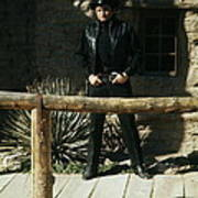 Johnny Cash Gunfighter Hitching Post Old Tucson Arizona 1971 Poster