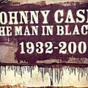 Johnny Cash Memorial Poster