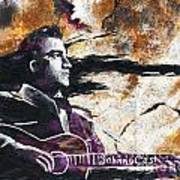 Johnny Cash Original Painting Print Poster