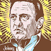 Johnny Cash Pop Art Poster