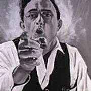 Johnny Cash Portrait Poster