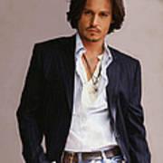 Johnny Depp Poster by Dominique Amendola