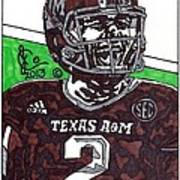 Johnny Manziel 6 Poster by Jeremiah Colley
