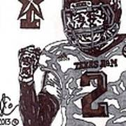 Johnny Manziel 9 Poster by Jeremiah Colley