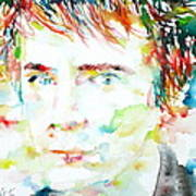 Johnny Rotten - Watercolor Portrait Poster