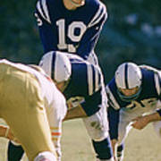 Johnny Unitas Under Center Poster by Retro Images Archive