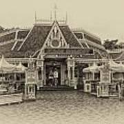 Jolly Holiday Cafe Main Street Disneyland Heirloom Poster