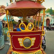 Jolly Trolley Disneyland Toon Town Poster