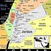 Jordan Exotic Map Poster by Florene Welebny
