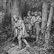 Joseph Brown Leading His Company To Nicojack, The Stronghold Of The Chickamaugas, Engraved Poster