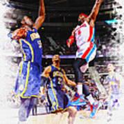 Josh Smith Of The Detroit Pistons Poster