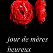 Jour De Meres Heureux Poster