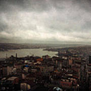 jour de pluie a Istanbul III Poster