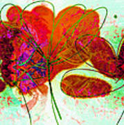 Joy Flower Abstract Poster