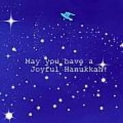 Joyful Hanukkah Card  Poster