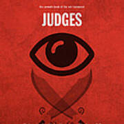 Judges Books Of The Bible Series Old Testament Minimal Poster Art Number 7 Poster