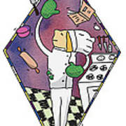 Juggling Chef Poster by Diane Thornton
