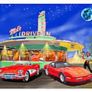 Julies Corvettes Poster