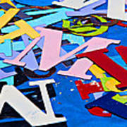 Jumble Of Letters Poster