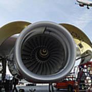 Jumbo Jet Engine And Aerospace Poster