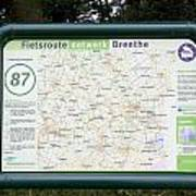 Junction Of Cycling In Drenthe Netherlands Poster