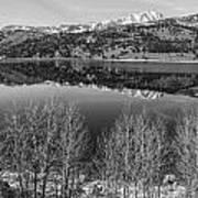 June Lake Black And White Poster