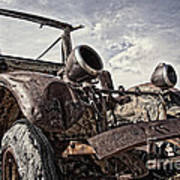 Junk Yard Sentinel Stands  Poster