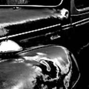 Junkyard Series Old Plymouth Black And White Poster