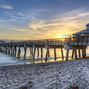 Juno Beach Pier At Dawn Poster
