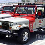 Jurassic Park Jeeps Poster