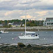 Just Waiting At Rye Harbor Poster