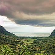 Kaaawa Valley Panorama Poster