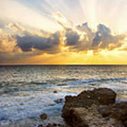 Kaena Point State Park Sunset 2 - Oahu Hawaii Poster by Brian Harig