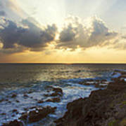 Kaena Point State Park Sunset 3 - Oahu Hawaii Poster