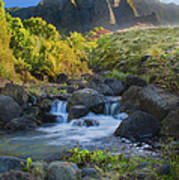 Kalalau Valley Stream Poster