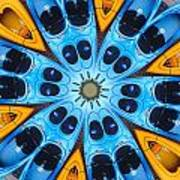 Kaleidoscope Canoes Poster by Amy Cicconi