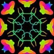 Kaleidoscope Drawing Poster