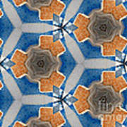 Kaleidoscope In Blue And Orange Poster