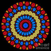 Kaleidoscope Of Colorful Embroidery Poster