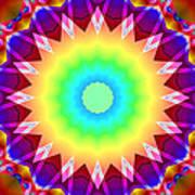 Kaleidoscope Rainbow Poster