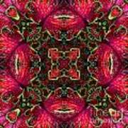 Kaleidscope Made From Image Of Coleus Plant Poster